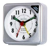 Acctim Ingot Mini Alarm Clock - Silver